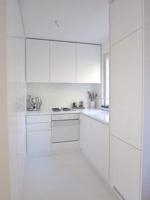 cocina minimalista en poco espacio