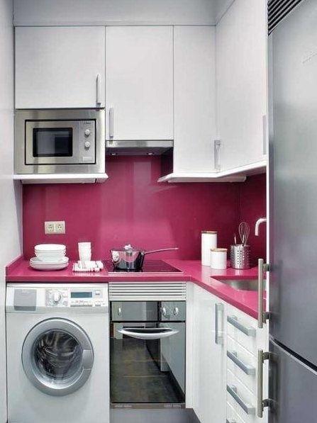 cocina moderna en poco espacio