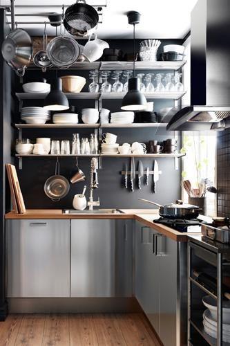 cocina muy pequeña aprovechando espacio