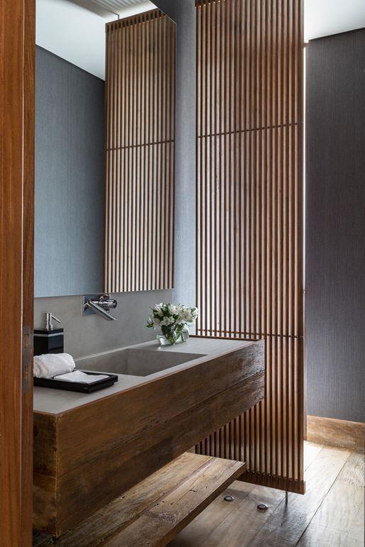 reforma lavabo madera