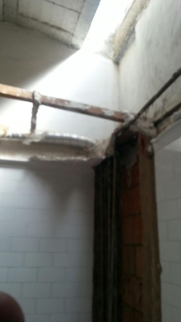 eliminación de falso techo