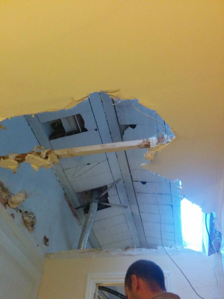 demolición de falso techo de escayola